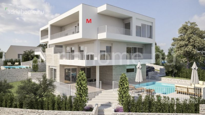 Rogoznica - New Off plan villas in 2nd row by the sea with swimming pool