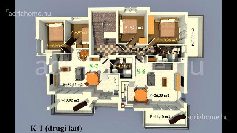 Rogoznica –  Kiváló, vadonatúj, elsősoros apartmanok