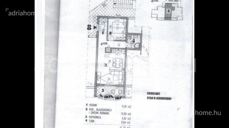Čiovo – Egyszobás, tengerparti apartman