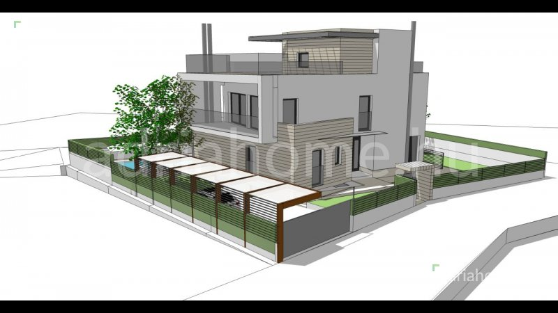 Rovinj - Modern, roh-bau luxusvilla a város csendes részén
