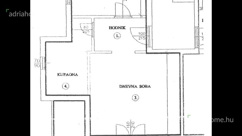 Trogir – Panorámás tetőtéri lakás tágas terasszal