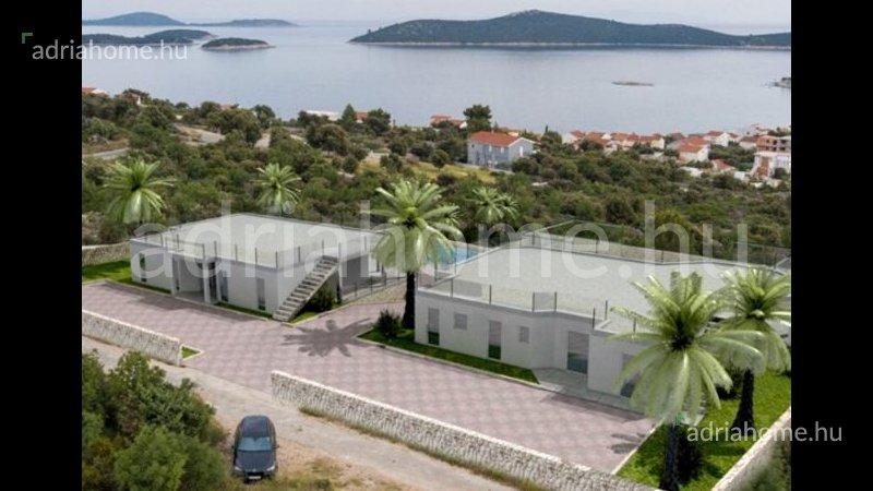 Šibenik környéke – Új projekt két ikervilla befejező szakaszban eladó
