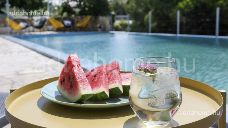 Sibenik area - Villa az 1. sorban medencével és teniszpályával