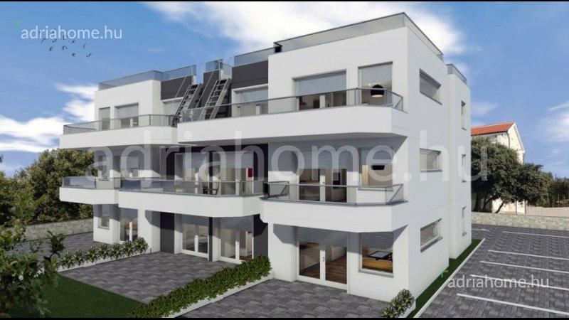 Mandre – Újonnan épült apartmanok a második sorban