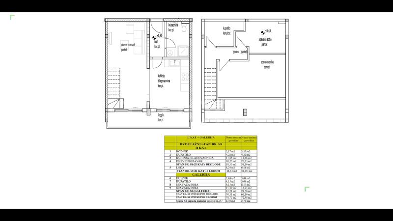 Seget – Kétszintes apartman garázzsal