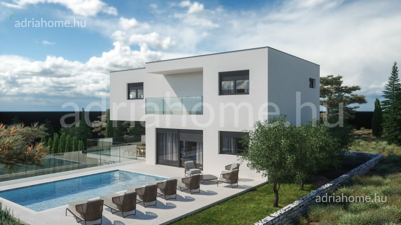 Rogoznica – Új építésű luxusvilla medencével