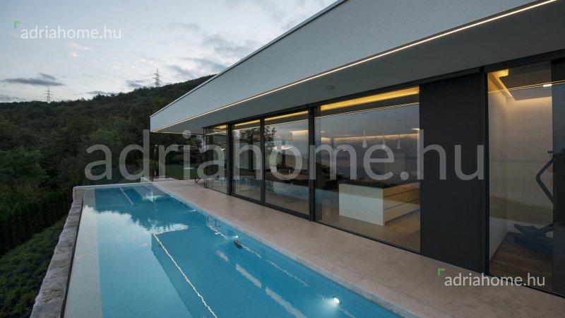 Bregi, Matulji - Ujonnan épült, panorámás luxusvilla Opatija felett