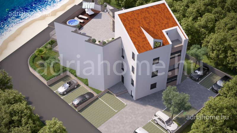 Mandre – Luxury apartment on the ground floor, first row
