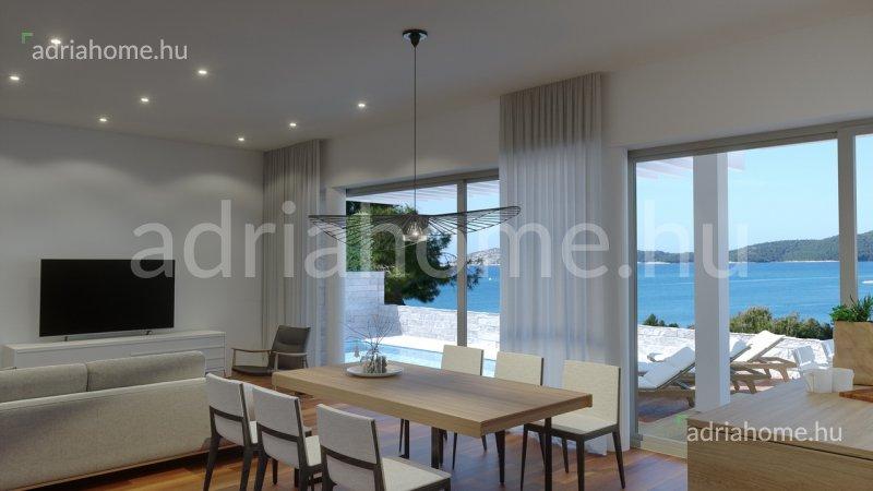 Šibeniki Riviéra – Új építésű villa közvetlen kijárattal a tengerhez