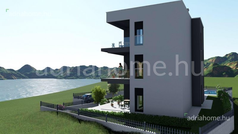 Rogoznica – Three newly built three-room apartments with pool